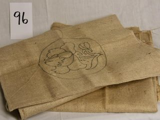 4 stamped burlap hooking patterns
