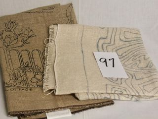 3 stamped burlap hooking patterns