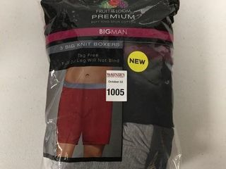 3 PCS FRUIT OF THE lOOM MENS KNIT BOXERS SIZE 4XB