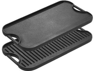 lODGE CAST IRON REVERSIBlE GRIDDlE GRIll