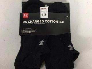 6 PAIRS UNDER ARMOUR SOCKS 8 10 M S  9 12 W S