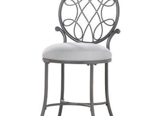 HIllSDAlE FURNITURE O MAllEY METAl VANITY STOOl