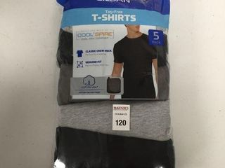 5 PCS GIlDAN MENS T SHIRT SIZE lARGE