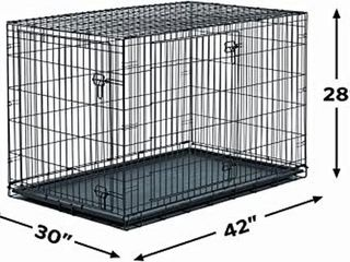 NEW WORlD DOUBlE DOOR FOlDING DOG CRATE