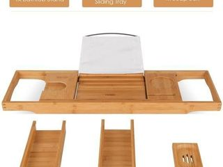 HOMFA BAMBOO BATHTUB TRAY 29 5  ADJUSTABlE