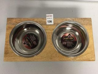 BlACK lABEl STAINlESS STEEl PET BOWl