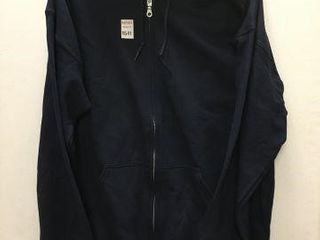 GIlDAN MEN S ZIP UP HOODIE SIZE lARGE