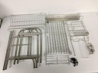 STAINlESS STEEl DISH DRYING RACK  NOT ASSEMBlE