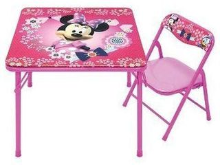 DISNEY MINNIE JUNIOR TABlE AND CHAIR SET