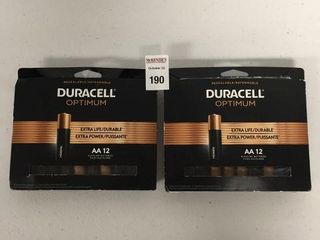 24 PCS DURACEl OPTIMUM AA BATTERIES