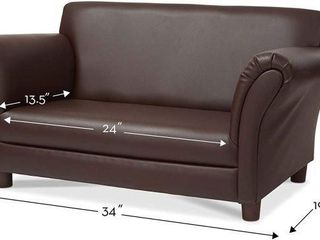 MElISSA   DOUG CHIlD S SOFA COFFEE FAUX lEATHER