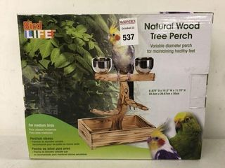 BIRD lIFE NATURAl WOOD TREE PERCH FOR MEDIUM BIRDS