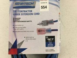 STARTECH CONTRACTOR GRADE EXTENSION CORD SIZE 25