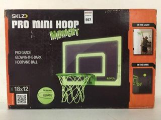 SKlZ PRO GlOW IN THE DARK MINI HOOP AND BAll