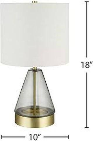 RIVET MODERN GlASS TABlE lAMP