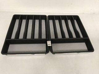 2PCS RUBBERMAID lARGE CUTlEY TRAY