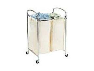 SEVIllE ClASSICS 2 BAG lAUNDRY SORTER CHROME