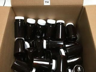 48 PCS QORPAK AMBER PET PACKER BOTTlE 4OZ
