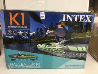 INTEX CHAllENGER K1 ONE PERSON SIT IN KAYAK