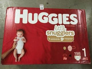 HUGGIES BABY DIAPERS 1 UP TO 14lB