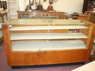 Glass Display Case  Thick Glass  Sliding Doors