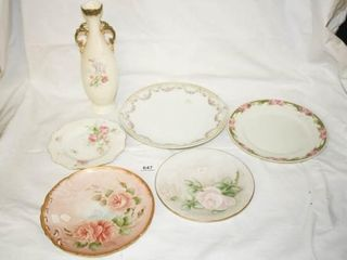 Decorative Plates and Floral Vase