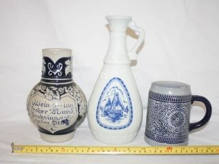 Blue White Ceramic Pottery Pieces  3