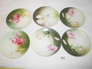 Floral Plates Marked  Russia   6
