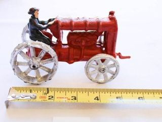 Antique Cast Iron Toy Tractor