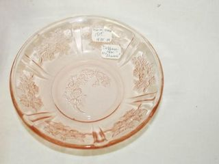 Pink Glass  Cabbage Rose Pattern