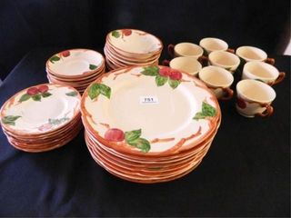 Franciscan Apple Dishes  40 Pieces