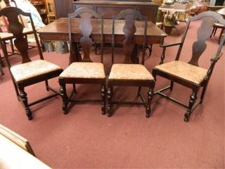 Antique Table   4 Chairs