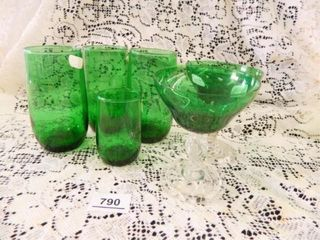 Forest Green Glassware   6