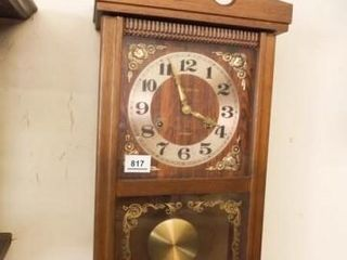 Royal Time line 31 Day Wood Wall Clock