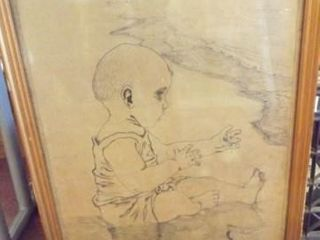 R  Taggart Drawing  Framed