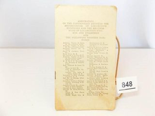 1915 Railroad Arbitration Pamphlet