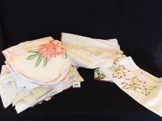 Embroidered  Appliqued linens  Variety  20