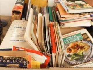 Cooking Books  Pamphlets   2 Boxes    50