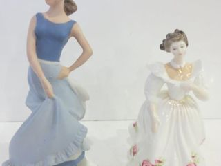 ROYAl DOUlTON FIGURE OF THE MONTH  APRIl  SIGNED
