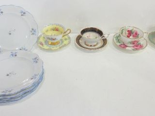 TEACUPS AND SAUCERS   SHEllEY  ROYAl STAFFORD