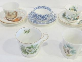 TEACUPS AND SAUCERS   ROYAl AlBERT  QUEEN ANNE