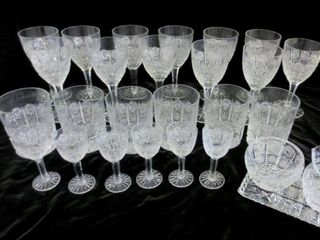 ClEAR CUT CRYSTAl STEMWARE  GlASSES  CREAM AND