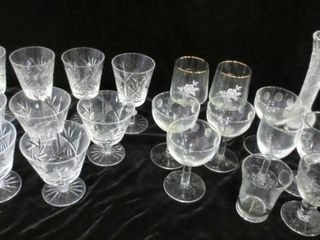 STEMWARE   ASSORTED PATTERNS   SOME CRYSTAl