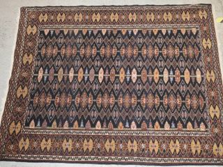 HAND KNOTTED CARPET  63  X 51