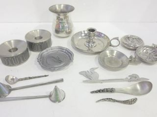PEWTER PIECES BY ANSEl HOlMSEN  AMOS  AITKENS