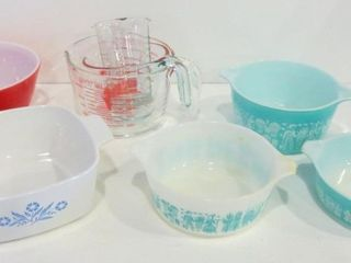 PYREX BAKING DISHES  BUTTERPRINT AMISH  AND  BlUE