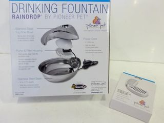 PET DRINKING FOUNTAIN AND FIlTER