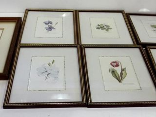 FlORAl PRINT BY M G  lOATES  13 X 11  SET OF 6