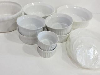 WHITE CERAMIC STORAGE CONTAINERS WITH lIDS