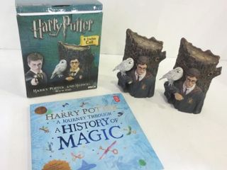HARRY POTTER AND HEDWIG BOOK ENDS   HARRY POTTER